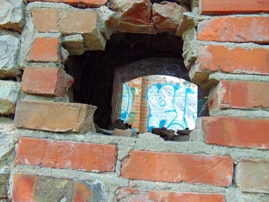 Old Mill Brick Wall Peek 1 Eklund