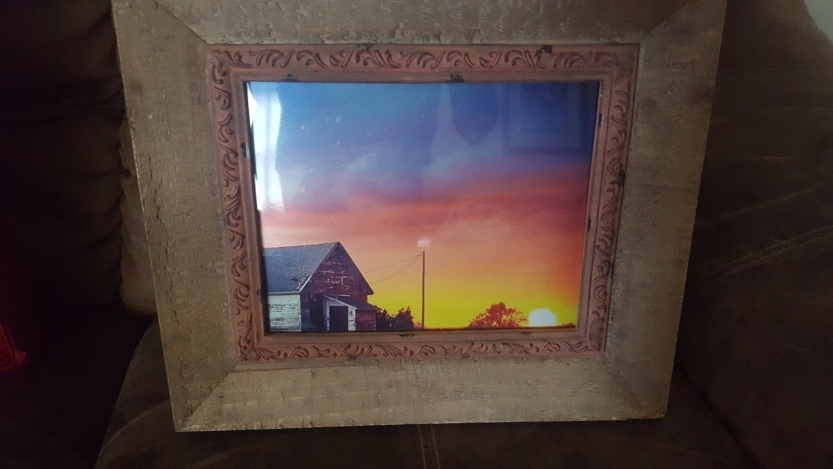 8x10 Full Color Print in Wood Frame $25