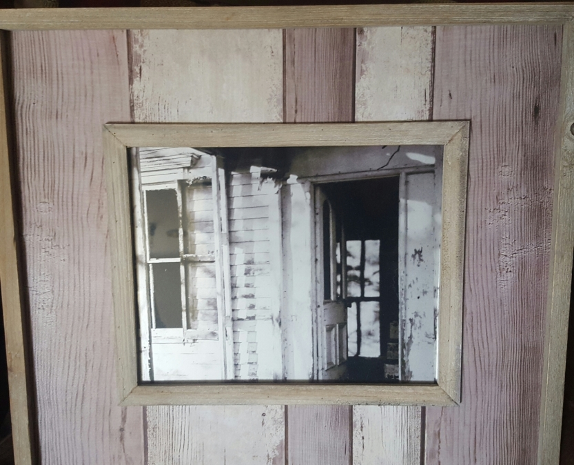 8x10 Metallic Print Original Photograph in Vintage looking wooden frame $30